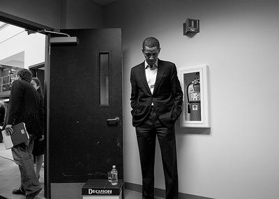Barack Obama Porträt schwarz-weiß