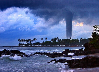 Tornado nahe Lombok Island, Indonesien