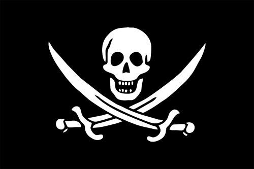 Piratenflagge von Rack Rackham