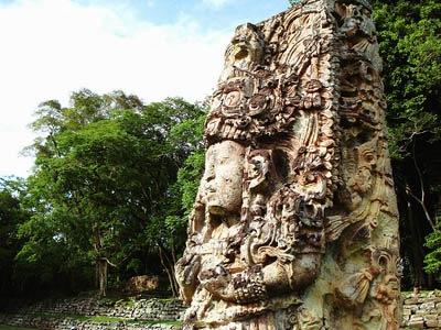 Maya-Stele, Copán, Honduras