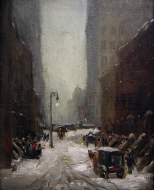 "Gemälde ""Snow in New York"" von Robert Henri"