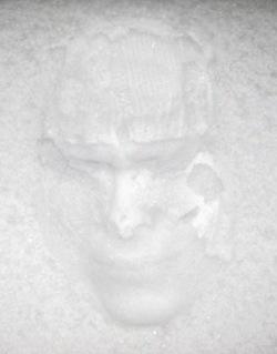 Selbstporträt: mein Schneegesicht