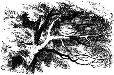 Grinsende Grinsekatze, gezeichnet von John Tenniel