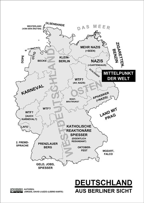 Deutschlandkarte aus Berliner Sicht
