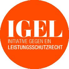 Banner von IGEL, Initiative gegen ein Leistungsschutzrecht