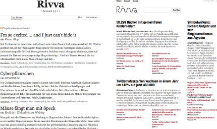 Screenshot News-Aggregator Rivva