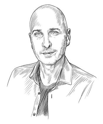Porträtzeichnung des Autors