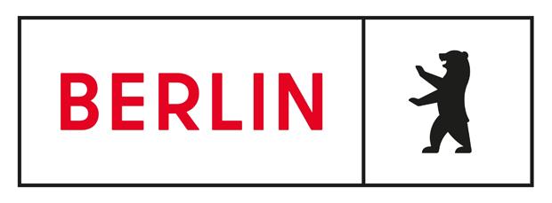 Neues Logo für Berlin: Der Name und der Berliner Bär sind jeweils in einem Rahmen.